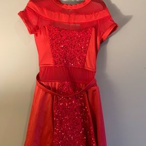 Weissman Red Sequin Jazz Dress Costume